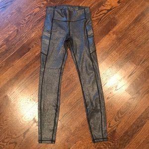 Metallic Lululemon leggings